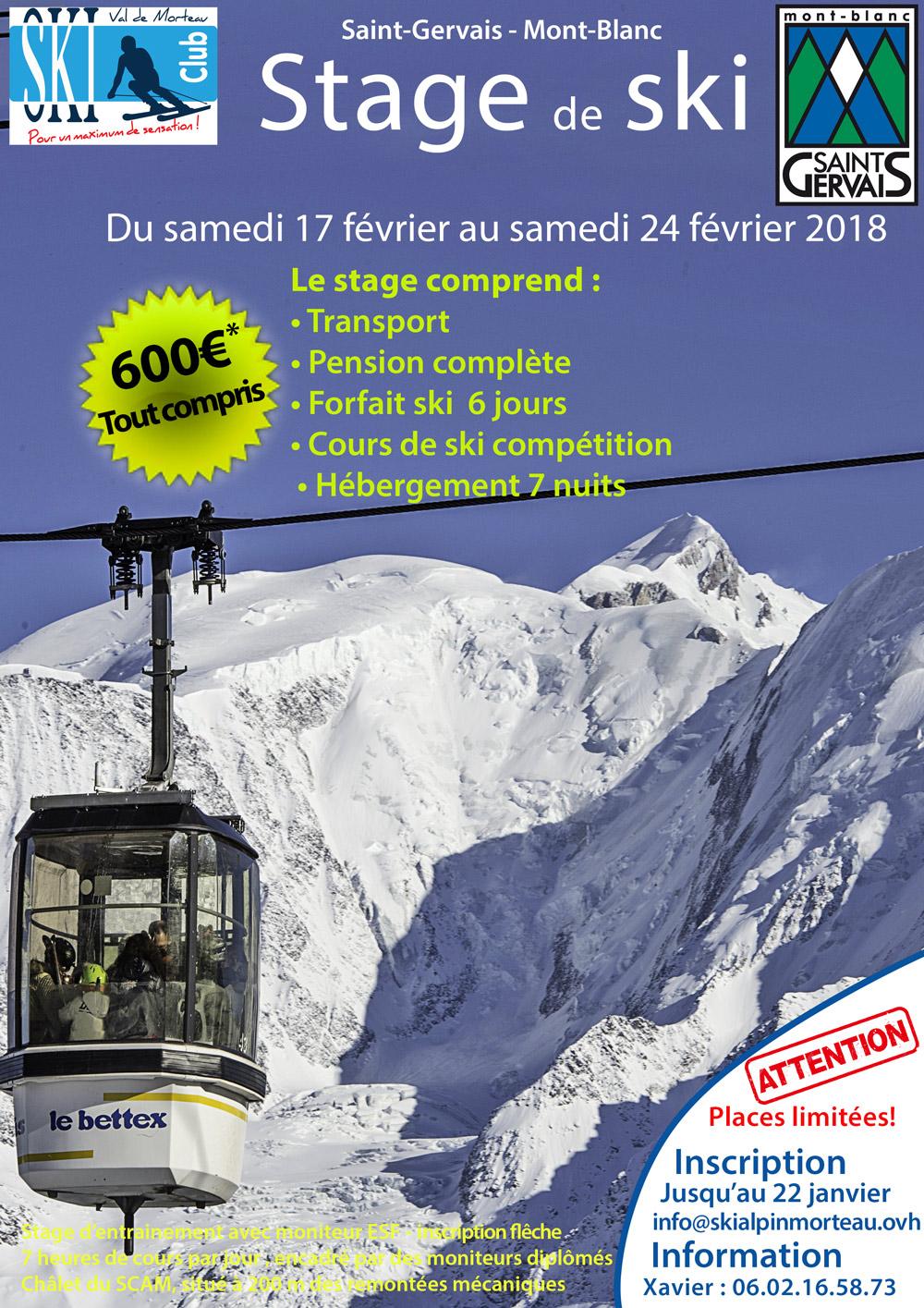 Stage saint gervais ski club alpin val de morteau - Www le palet com competitions coupes bulletins d inscriptions ...