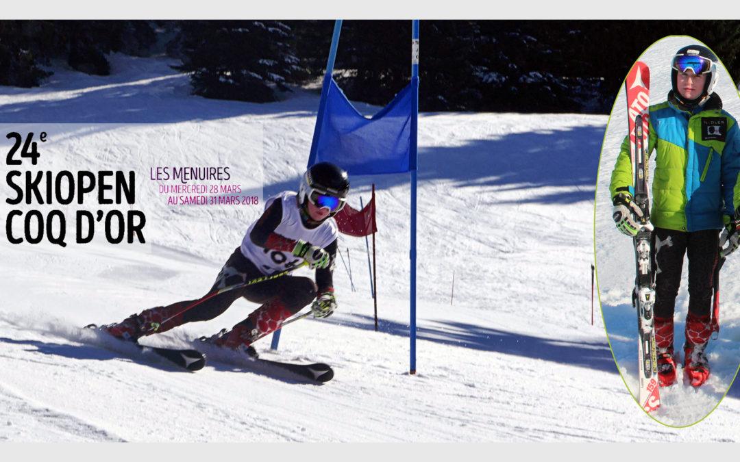 Manoah Marchand – Sélectionné au 24ème Ski Open Coq d'Or